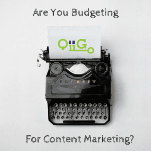 budgeting for content marketing